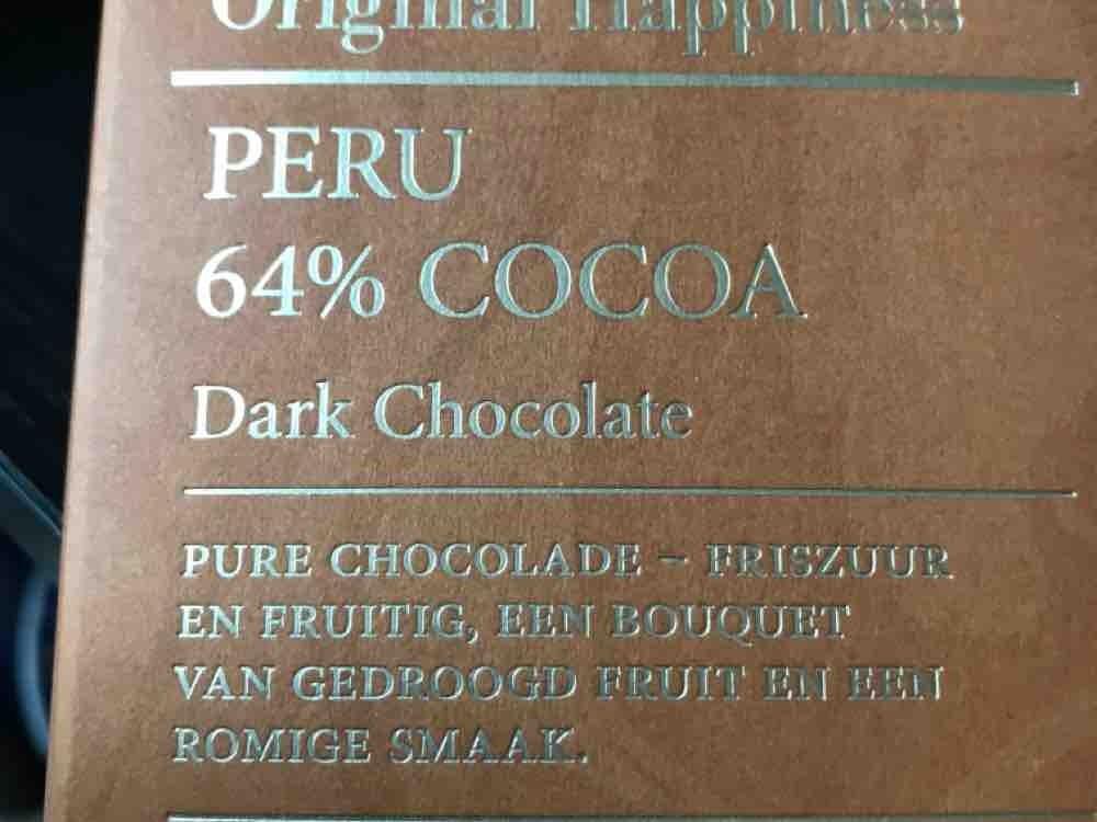 Original Happiness Dark Chocolate, aus Peru, 64% Kakao von panoramastitcher | Hochgeladen von: panoramastitcher