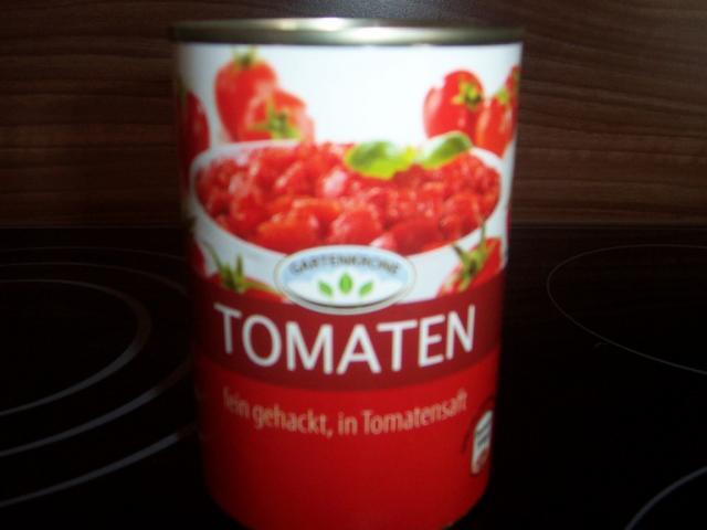 Gartenkrone Tomaten gehackt, in Tomatensaft | Hochgeladen von: Nudelpeterle