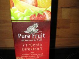 Pure Fruit 7 Früchte Direktsaft, Erdbeere Traube Apfel Anana   Hochgeladen von: EcceRex