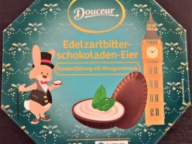 Edelzartbitterschokoladen-Eier, Fondantfüllung mit Minzgesch | Hochgeladen von: wertzui