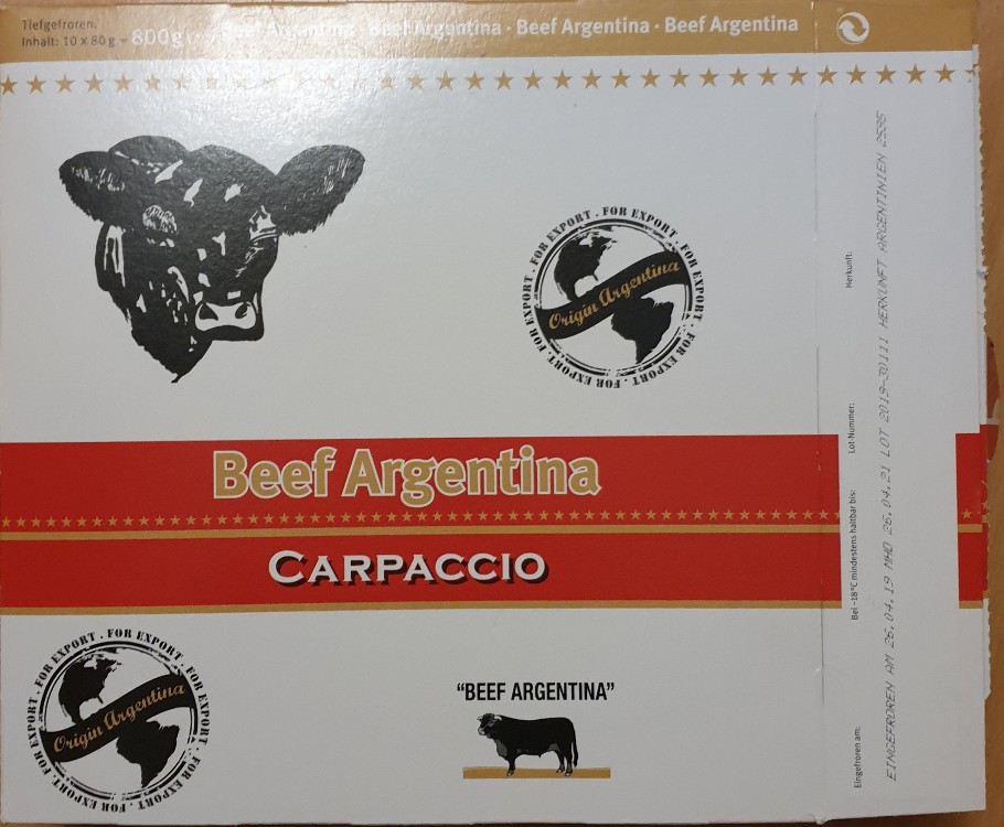 Carpaccio Beef Argentina von Nickimauzi | Hochgeladen von: Nickimauzi