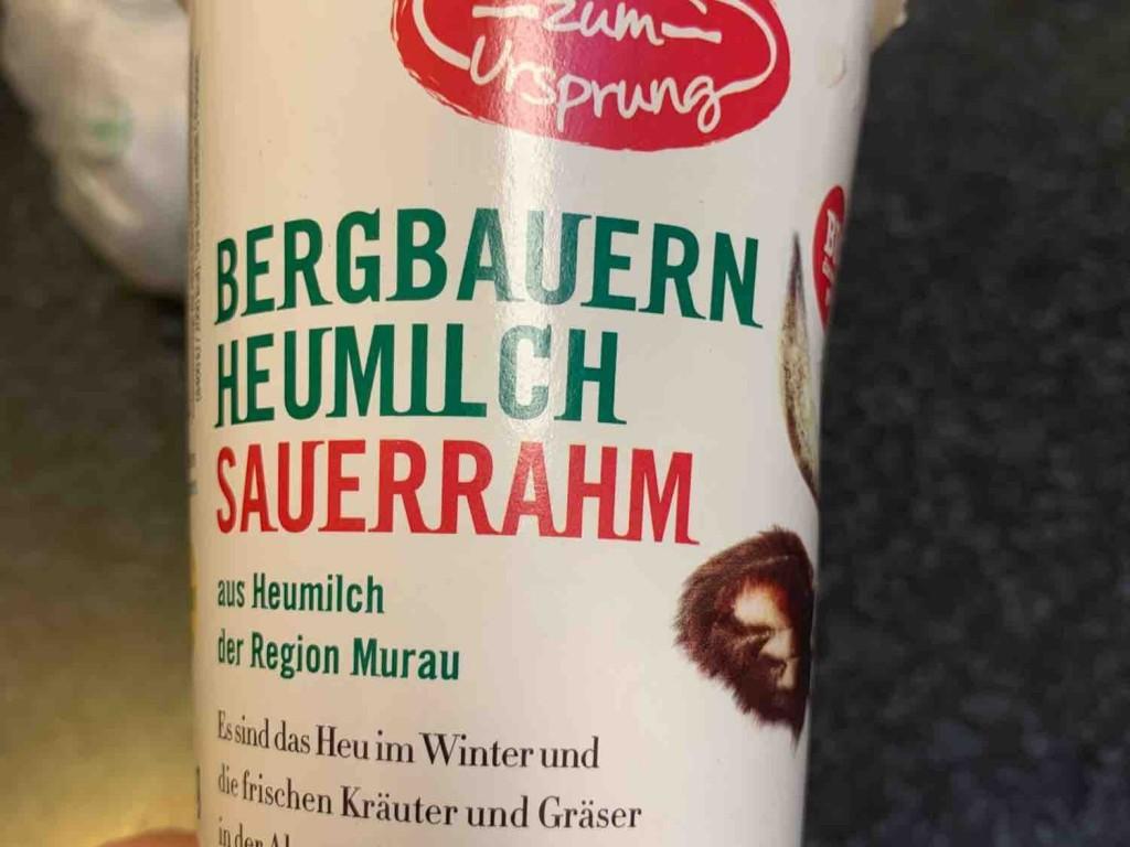 Bergbauern Sauerrahm aus Heumilch von Haemmerle   Hochgeladen von: Haemmerle
