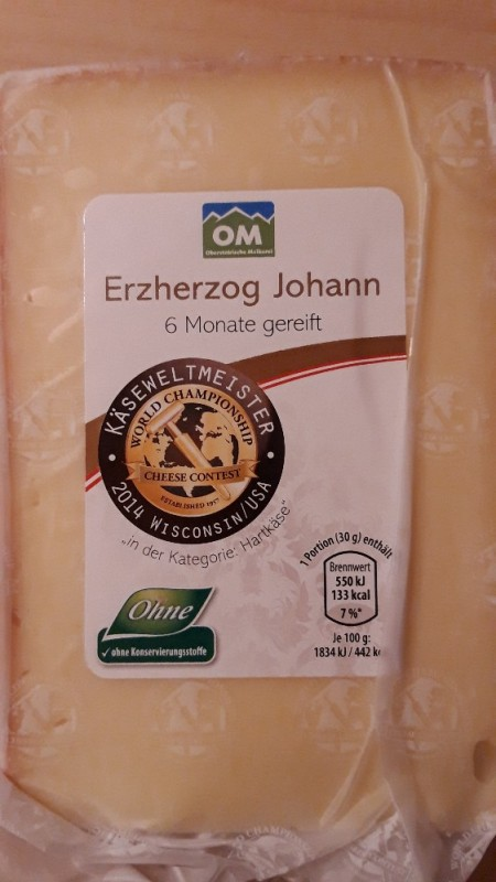 Erzherzog Johann Hartk?se, Rohmilch, 55% Fett i. Tr. von oborko | Hochgeladen von: oborko