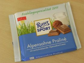 Ritter Sport, Alpensahne Praliné   Hochgeladen von: Teecreme