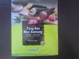Yang Ban Nori Seetang (geröstet, getrocknet)   Hochgeladen von: Eva Schokolade