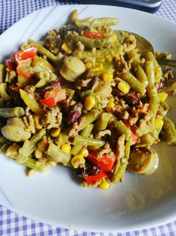 Gemüsepfanne mit Hackfleisch und Reis von Harry1965 | Hochgeladen von: Harry1965