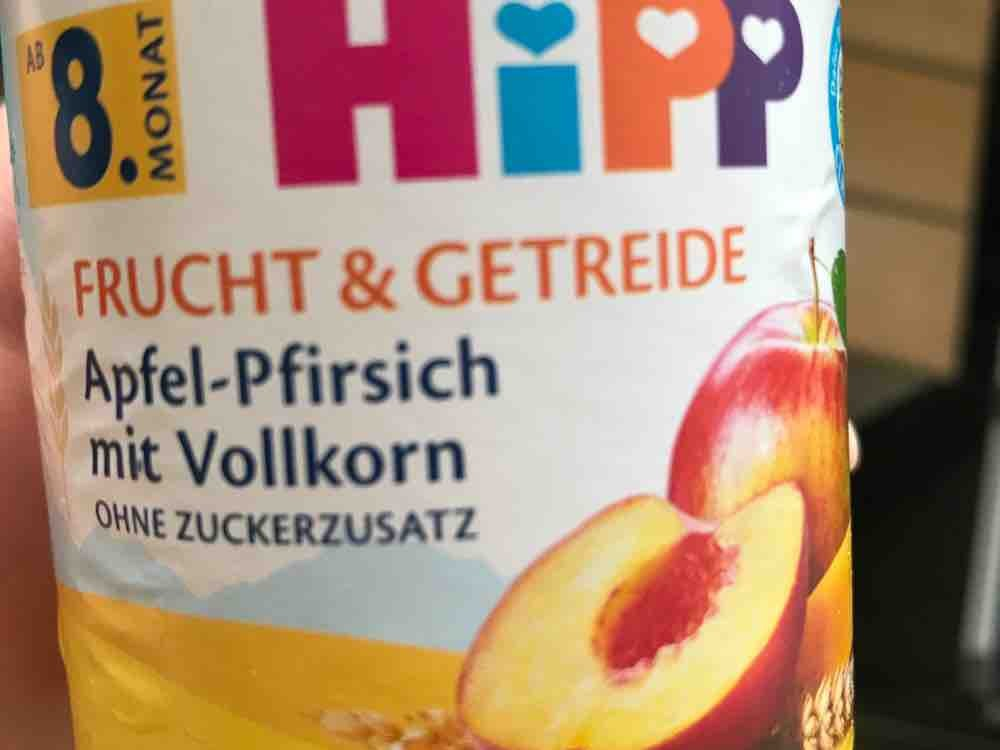 hipp frucht und getreide, apfel pfirsich mit vollkorn von powermischu   Hochgeladen von: powermischu