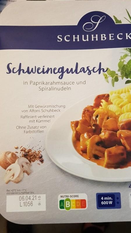 Schweinegulasch in Paprikarahmsauce mit Spiralinudeln von soesi505   Hochgeladen von: soesi505