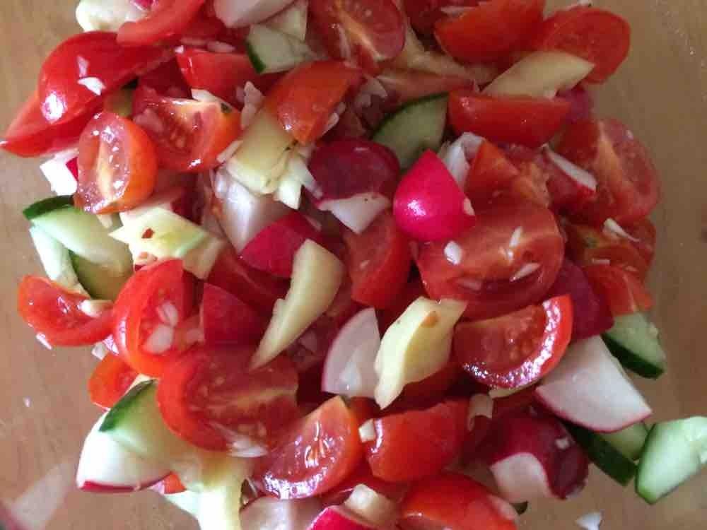 Salat (Tomate,Gurke,Radieschen,Paprika) Dressing von anitalawender313   Hochgeladen von: anitalawender313